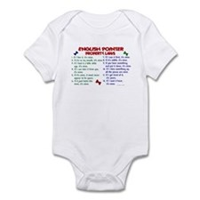 English Pointer Property Laws 2 Infant Bodysuit