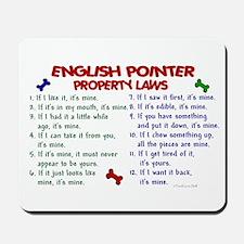 English Pointer Property Laws 2 Mousepad