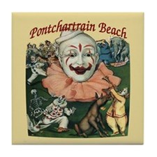 Pontchartrain Beach Poster Tile Coaster