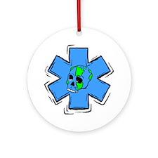 EMS Star Of Life Skull Ornament (Round)