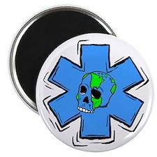 EMS Star Of Life Skull Magnet