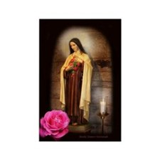 Saint Therese Rectangle Magnet