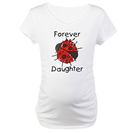 Forever Daughter Ladybug Maternity T-Shirt