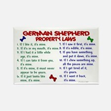 German Shepherd Property Laws 2 Rectangle Magnet (