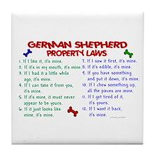German Shepherd Property Laws 2 Tile Coaster