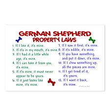 German Shepherd Property Laws 2 Postcards (Package