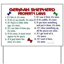German Shepherd Property Laws 2 Yard Sign