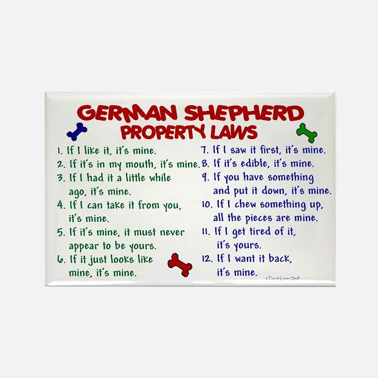 German Shepherd Property Laws 2 Rectangle Magnet