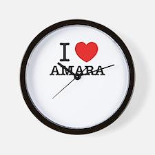 I Love AMARA Wall Clock
