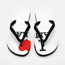 I Love AMARA Flip Flops
