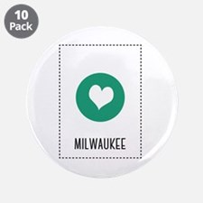 """I Love Milwaukee 3.5"""" Button (10 pack)"""