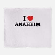 I Love ANAHEIM Throw Blanket