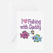 I Love Fishing With Daddy Greeting Cards (Pk of 10