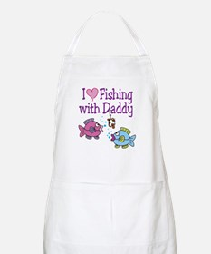 I Love Fishing With Daddy BBQ Apron