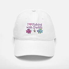 I Love Fishing With Daddy Baseball Baseball Cap