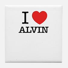 I Love ALVIN Tile Coaster