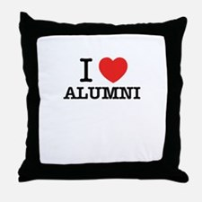 I Love ALUMNI Throw Pillow