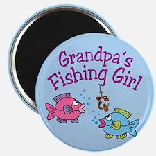 Grandpa's Fishing Girl Magnet