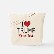 Customize I heart TRUMP Tote Bag