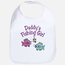 Daddy's Fishing Girl Bib