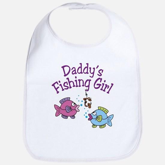 Daddy's Fishing Girl Bib