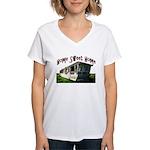 Trailer Home Women's V-Neck T-Shirt