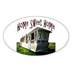 Trailer Home Oval Sticker