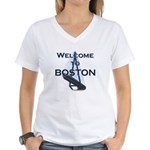 Welcome to Boston Women's V-Neck T-Shirt