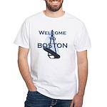 Welcome to Boston White T-Shirt