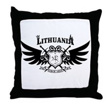 Vytis Crown and Flame Throw Pillow