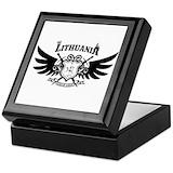 Lithuanian vytis Square Keepsake Boxes