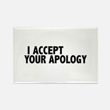 I accept your apology (Colbert) Rectangle Magnet