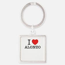 I Love ALONZO Keychains