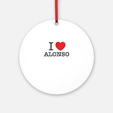 I Love ALONSO Round Ornament
