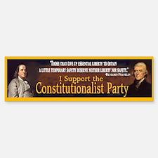 Constitutionalist Party Bumper Bumper Bumper Sticker