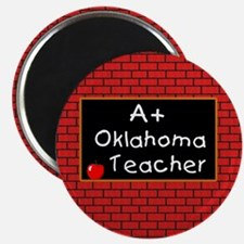 """Oklahoma Teacher 2.25"""" Magnet (100 pack)"""