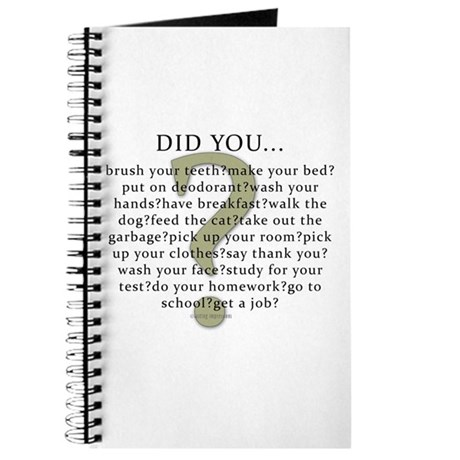 Did you...? Journal