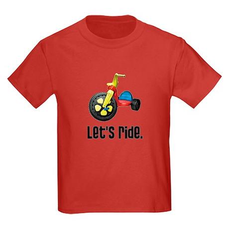 """""""Let's Ride"""" Kids Dark T-Shirt"""