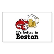 Better in Boston Rectangle Decal