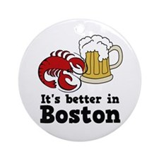 Better in Boston Ornament (Round)