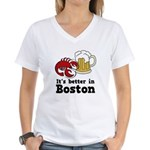 Better in Boston Women's V-Neck T-Shirt