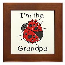 I'm the Grandpa Ladybug Framed Tile