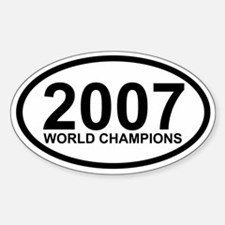 2007 World Champions Oval Decal