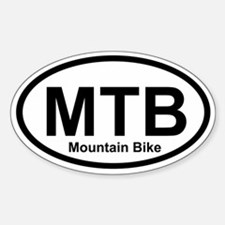 MTB - Mountain Bike Oval Decal