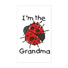 I'm the Grandma Ladybug Rectangle Decal