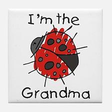 I'm the Grandma Ladybug Tile Coaster