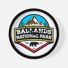 Cute Badlands national park Wall Clock