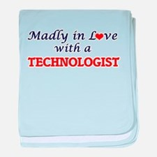 Madly in love with a Technologist baby blanket