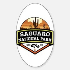 Cute Saguaros Sticker (Oval)
