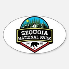 Cute California sequoia Sticker (Oval)